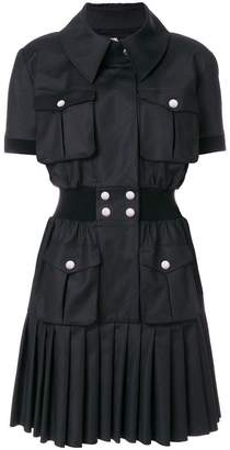 Karl Lagerfeld pleated hem shirt dress