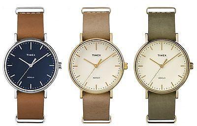 TimexTimex Women's Weekender Fairfield 37mm | Leather Strap Minimal Dial Casual Watch