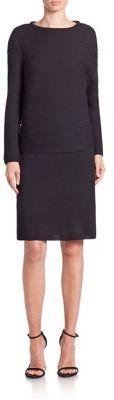 Lafayette 148 New York Fine Gauge Merino Layered Dress $548 thestylecure.com