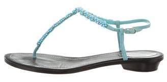 Rene Caovilla Beaded Thong Sandals