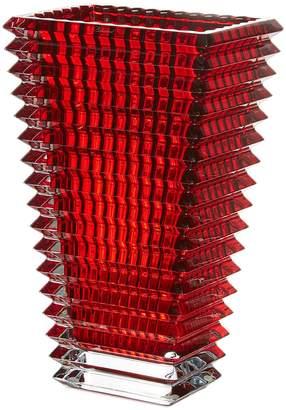 Baccarat Eye tall rectangular vase - Red