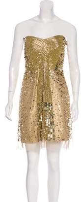 ABS by Allen Schwartz Strapless Embellished Dress