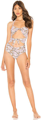 MinkPink Keepsake Tie Front One Piece