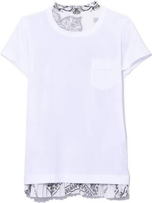 98c9078b72e Sacai Bandana Print T-Shirt in White