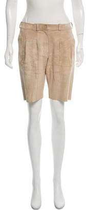 Derek Lam Knee-Length Suede Shorts