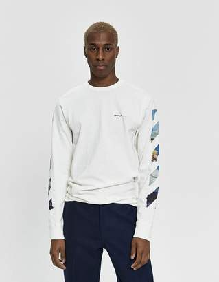 Off-White Off White L/S Diagonal Colored Arrows Tee