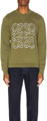 Loewe Flower Anagram Sweatshirt in Military Green | FWRD