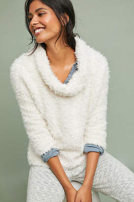 Anthropologie Sherpa Patch Turtleneck Pullover