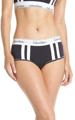 Calvin Klein Modern Cotton Blend Stripe Boyshorts