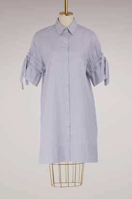 Victoria Beckham Victoria Gathered Sleeve Shirt Dress