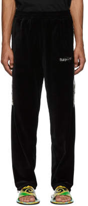 Chaos Doublet Black Lined Embroidery Lounge Pants