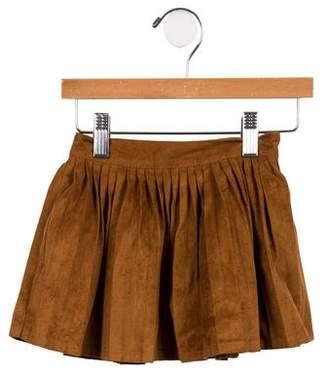 Billieblush Girls' Pleated Faux Suede Skirt