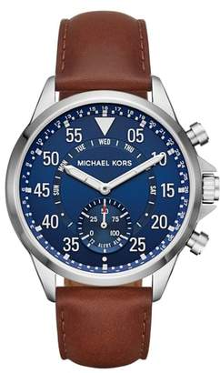 Michael Kors ACCESS Gage Leather Strap Smart Watch, 45mm