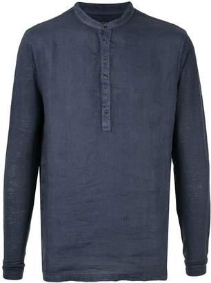120% Lino half button shirt