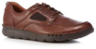 Brown leather 'Un Nature Time' trainers discount sast v8MObFu