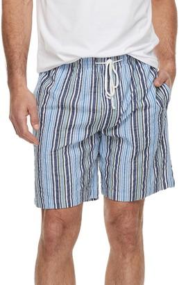 DAY Birger et Mikkelsen Big & Tall Residence Summer Shells Striped Seersucker Lounge Shorts