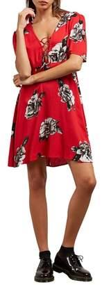 Volcom April March Lace-Up Dress