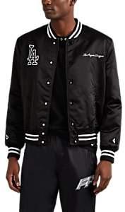 Marcelo Burlon County of Milan Men's LA DodgersTM Tech-Satin Varsity Jacket - Black