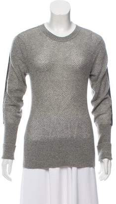 Reed Krakoff Leather-Trimmed Cashmere Sweater