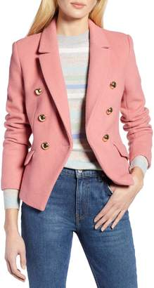 Halogen x Atlantic-Pacific Double Breasted Wool Blend Blazer