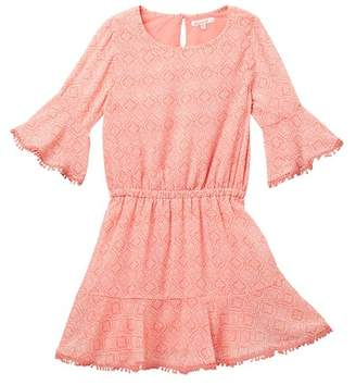 Ella Moss Flounce Chiffon Dress (Big Girls)
