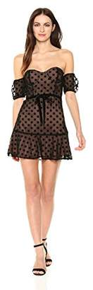 For Love & Lemons Women's Dotty Strapless Dress