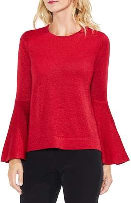 Vince Camuto Lurex Bell Sleeve Sweater (Petite)