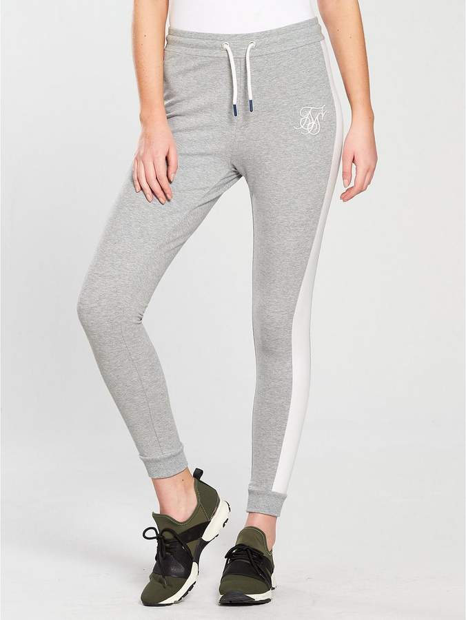 Fitted Jogger Bottoms - Grey Marl