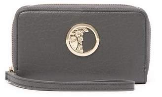 Versace Zip Around Piccolo V Leather Wristlet