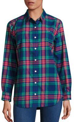 Vineyard Vines Snowflake Plaid Shirt $88 thestylecure.com