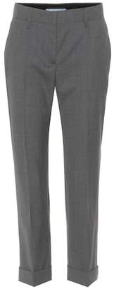 Prada Cropped wool trousers