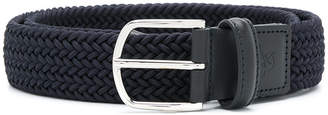 Canali braided buckle belt