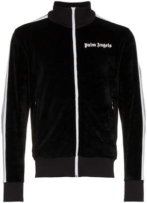Palm Angels Chenille Striped Cotton Track Jacket