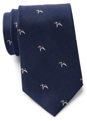 Tommy Hilfiger Large Dog Silk Tie
