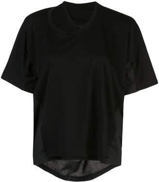 Proenza Schouler S/S Double Neck Top-Tumbled Jersey