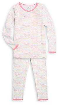Calvin Klein Little Girl's & Girl's Two-Piece Tee & Pants Pajama Set
