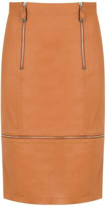 Tufi Duek zipped leather skirt