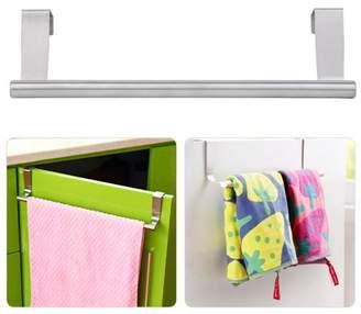 SupremeDeals Stainless Steel Over-the-Cabinet Rack Kitchen Dish Towel Drawer Bar Holder