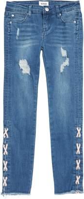 Hudson Etta Lace Up Ankle Crop Jeans