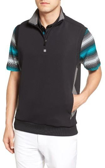Bobby Jones Men's Bobby Jones Rule 18 Tech Quarter Zip Vest