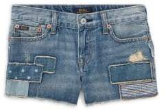 Ralph Lauren Little Girl's& Girl's Distressed Denim Shorts