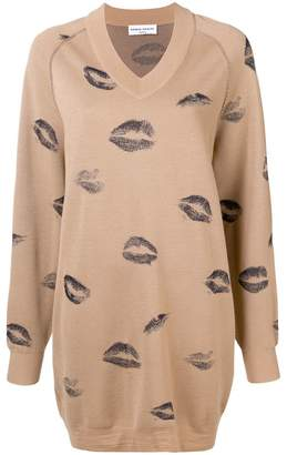 Sonia Rykiel kiss print sweater dress