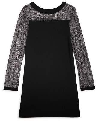 Sally Miller Girls' Luca Contrast Crochet Dress - Big Kid