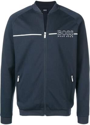 HUGO BOSS zipped logo sweatshirt