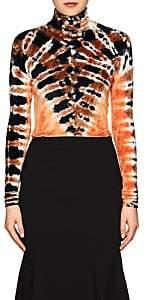 Proenza Schouler Women's Tie-Dyed Velvet Turtleneck Top-Orange