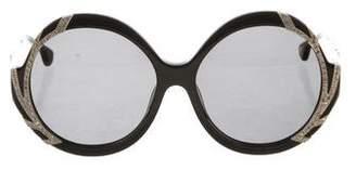 Alice + Olivia Stacey Embellished Sunglasses