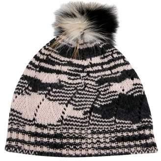 Missoni Fox Fur-Accented Wool Beanie