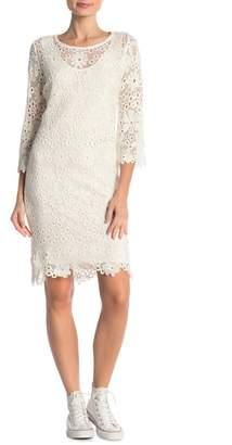 Velvet by Graham & Spencer Brenda Floral Lace Shift Dress