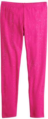 Girls 4-12 Jumping Beans Glitter Long Leggings