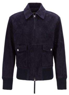 Fashion Show Harrington jacket in soft-touch suede